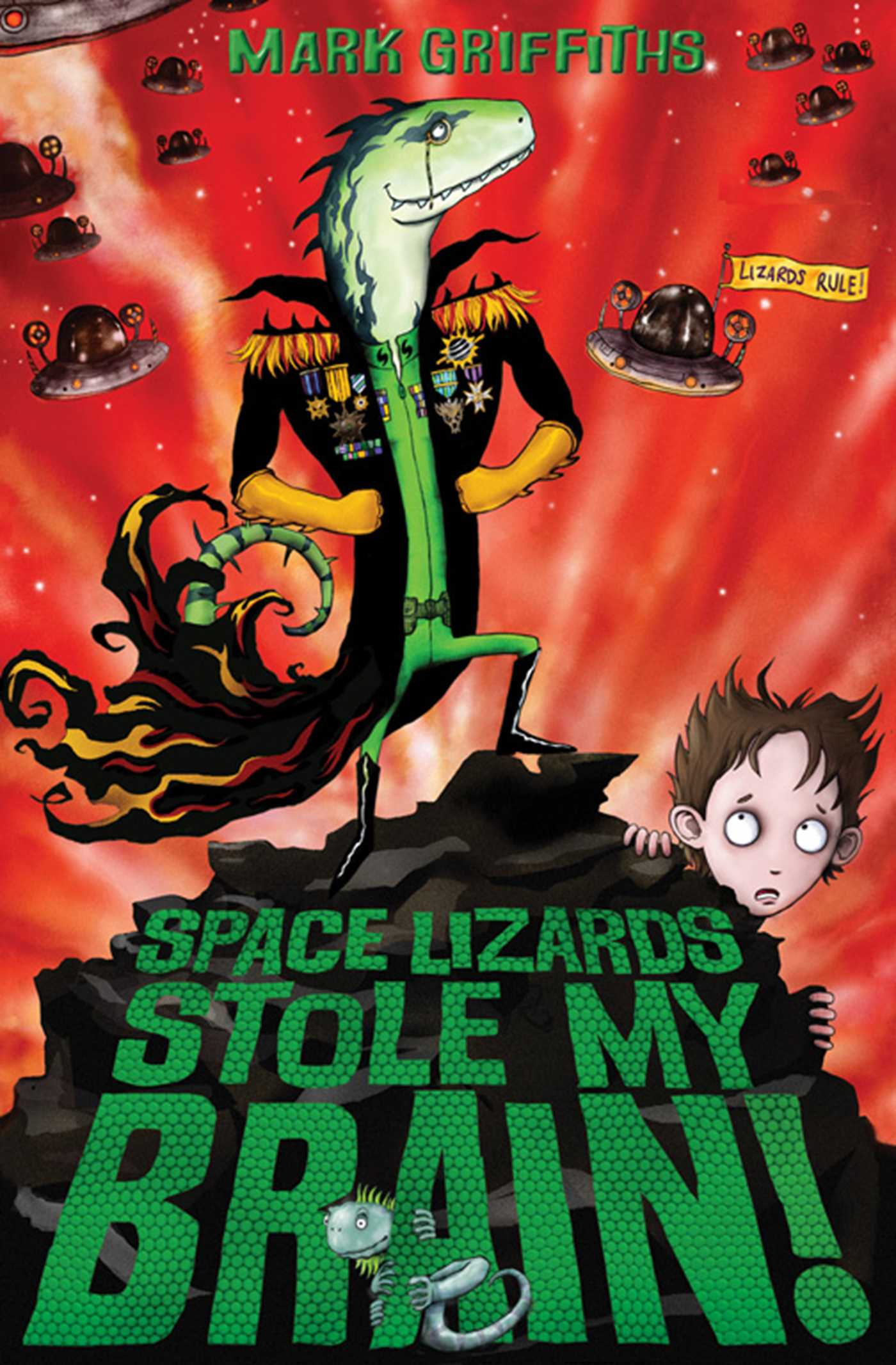 Space Lizards Stole My Brain! Cover